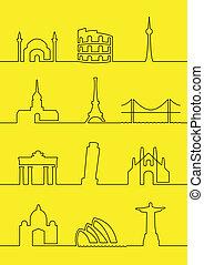 värld, städer