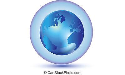 värld, totalt samband, logo