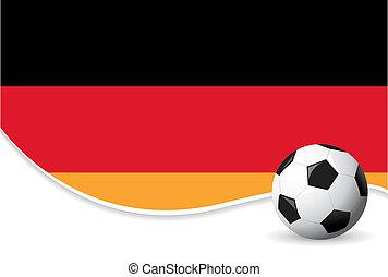 värld, tyskland, bakgrund, kopp