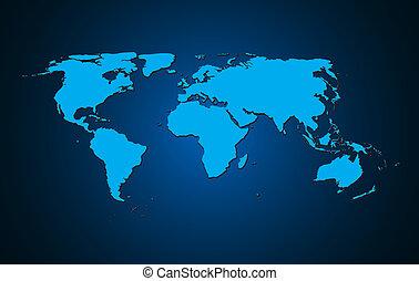 värld, vektor, bakgrund, illustration, karta