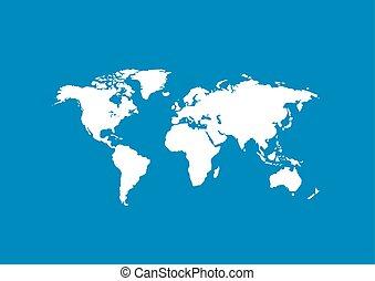 världen kartlägger