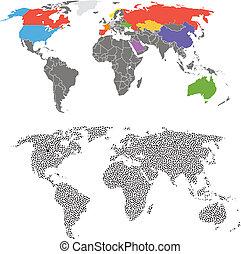 världen kartlägger, mall