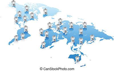 världen kartlägger, signaltjänst, begrepp