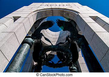 världen kriger ii, minnesmärke, in, washington, dc
