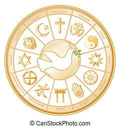 världspeace, duva, religioner