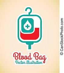 väska, blod