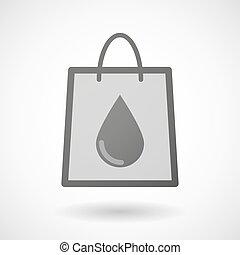 väska, droppe, inköp, blod, ikon