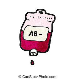väska, tecknad film, blod