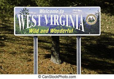 väst, välkommen, virginia, underteckna