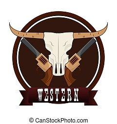 västra, affisch