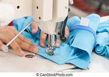 vävnad, klädesplagg, fabrik
