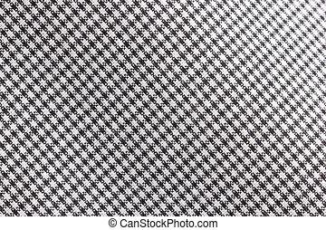 vävnad, mönster, vit, svart, bakgrund