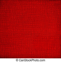 vågig, papper, röd