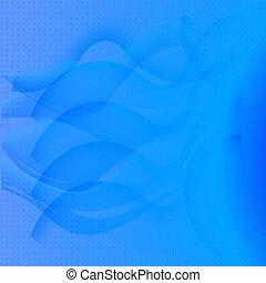 vågor, abstrakt, blåttbakgrund