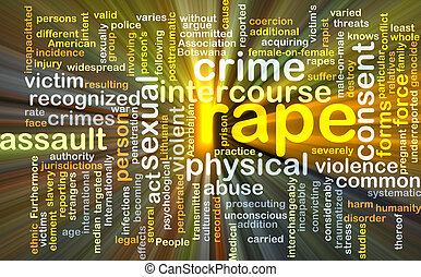 våldta, bakgrund, begrepp, glödande