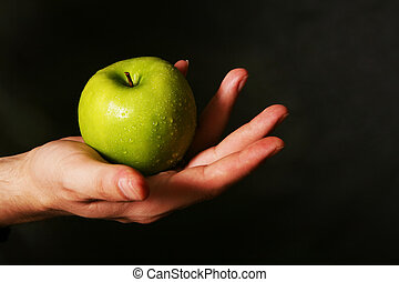 våt, äpple
