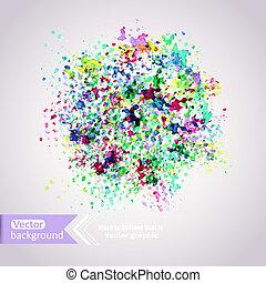 våt, elementara, urklippsalbum, illustration, abstrakt, vattenfärgen, vattenfärg, vektor, paper., färger, hand, oavgjord, bakgrund, fläck, komposition