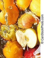 våt, frukt