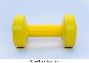 vægt training, bruge, dumbbell