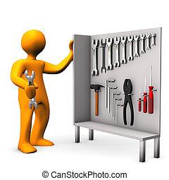 værktøj, kabinet