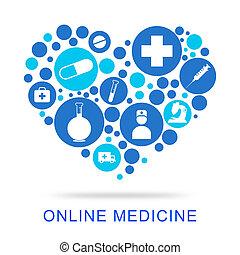 Væv, Antibiotisk,  site, angiver,  online, medicin
