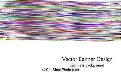 væv, banner, seamless