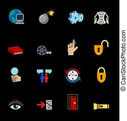 væv internet, iconerne