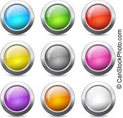 væv, knapper
