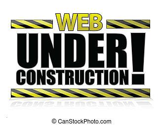 væv, konstruktion, under