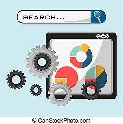 væv side, technolgy, søgen, indgreb, graph, økonomi