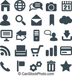 væv, som gælder de fleste, sæt, mobile., iconerne