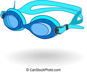 védőszemüveg, úszás