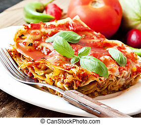 végétarien, lasagne