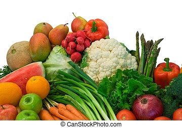 végétariens, fruits