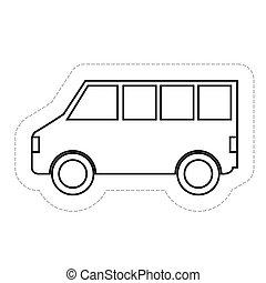 véhicule, fourgon, icône