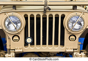véhicule, ww2, vieux, collectable, jeep