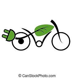 vélo, électrique, e-mobility, icône