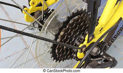 vélo, cassette, engrenage