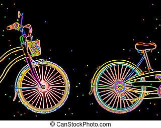 vélo, conception, retro
