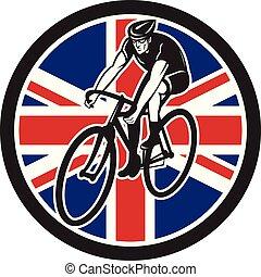 vélo courir, circ-uk-flag, cycliste, frontside, iso
