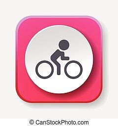 vélo, cyclisme, icône