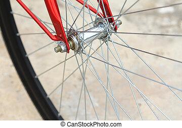 vélo, détail, pneu