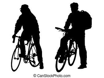vélo, deux