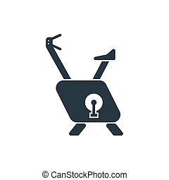 vélo, exercice, icône