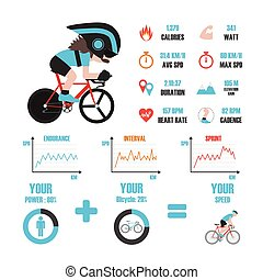 vélo, formation, infographic