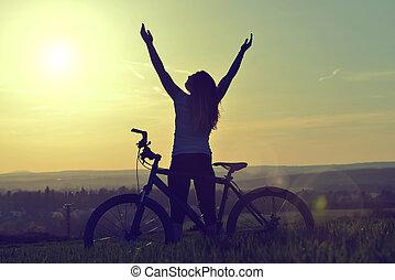 vélo, girl