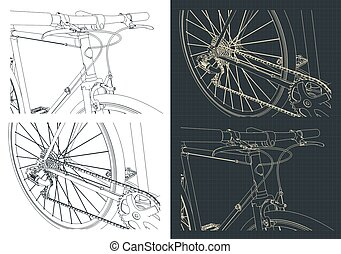 vélo, gros plan