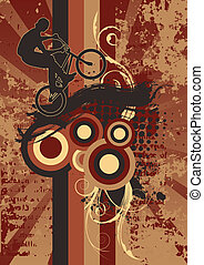 vélo, grunge