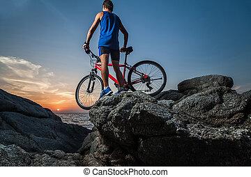 vélo, homme