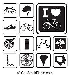 vélo, icônes